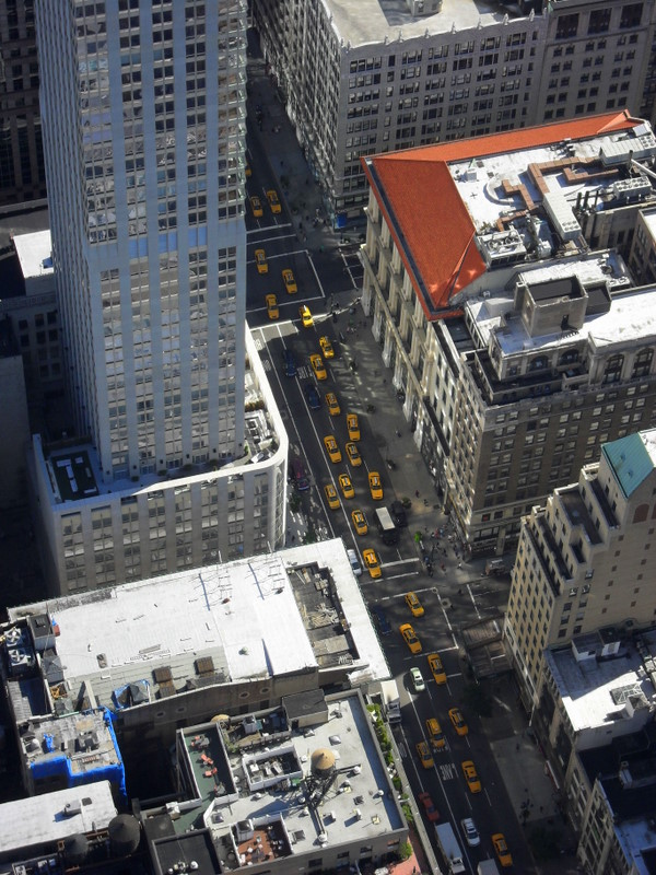 Streets of New York from above