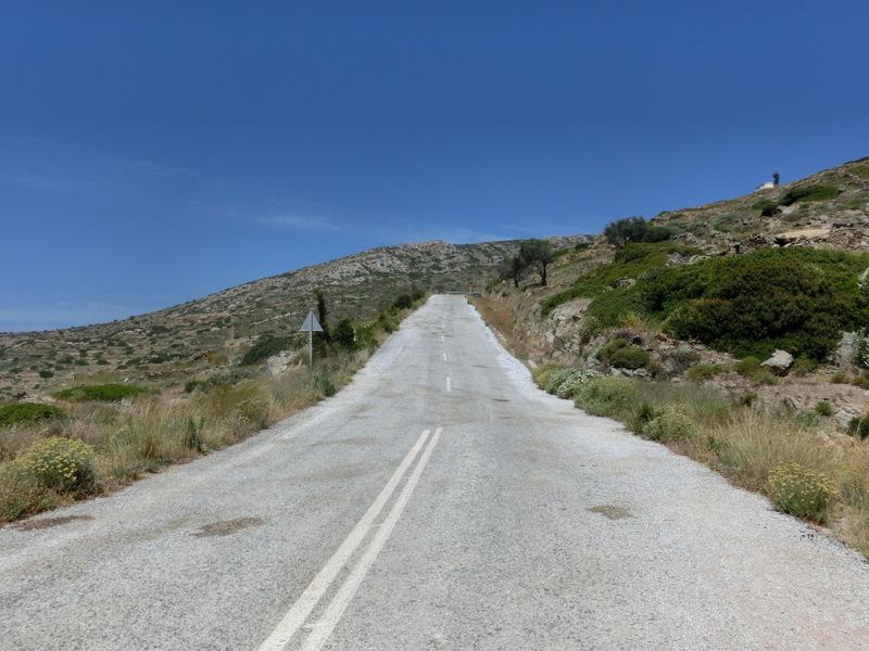 Straße in Ios
