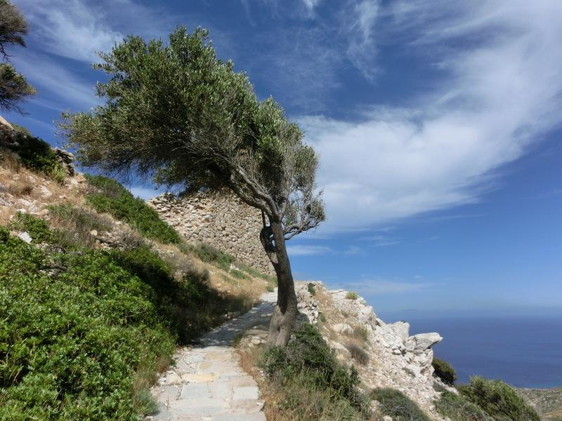Landschaftsaufnahme aus Ios, Griechenland