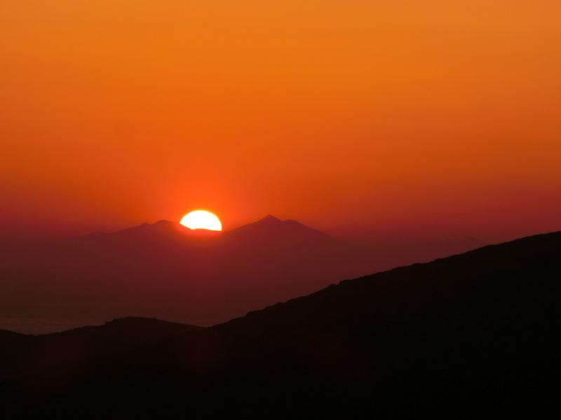 Sonnenuntergang auf Ios, Griechenland