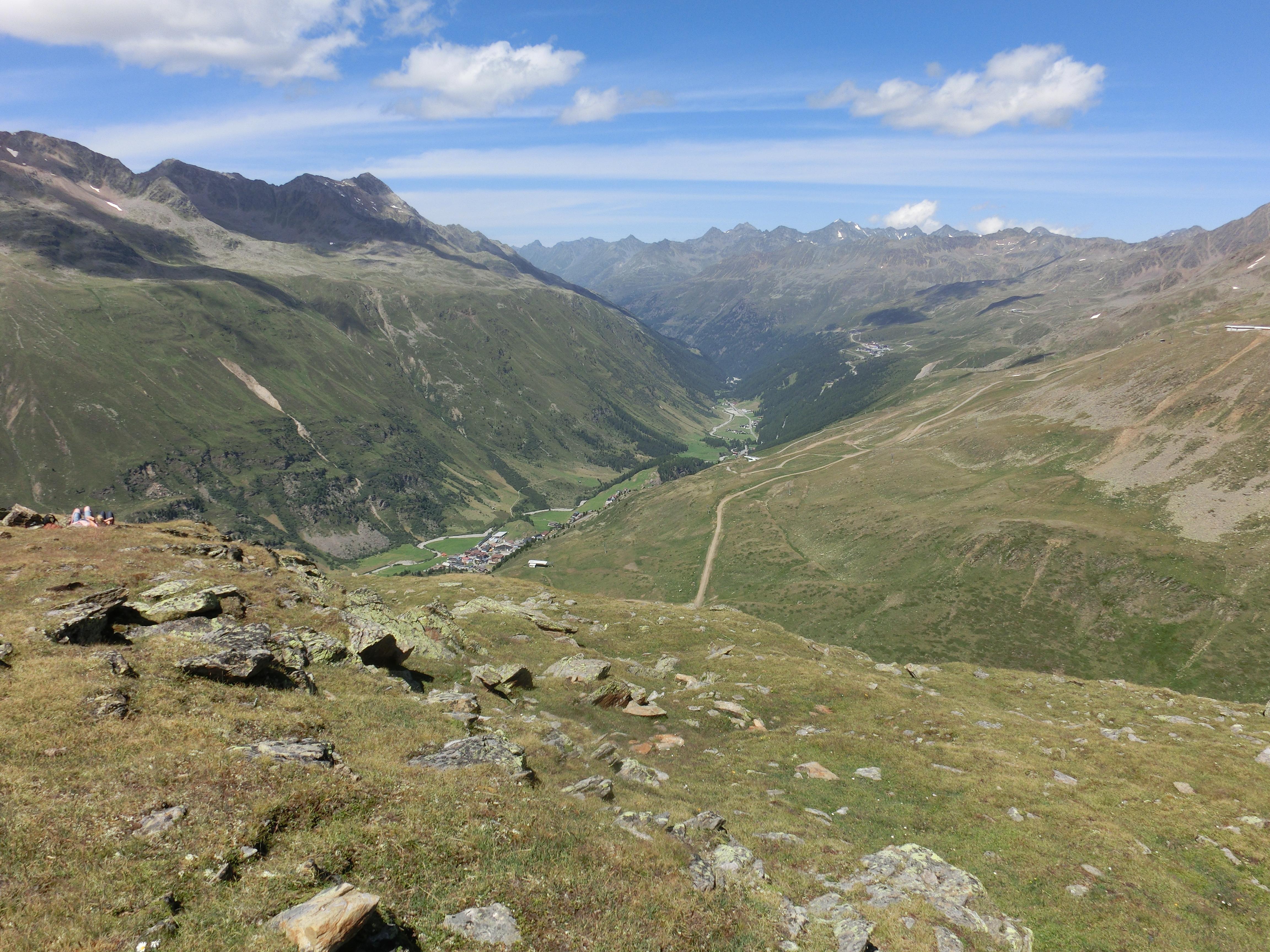 Blick ins Tal nach Obergurgl