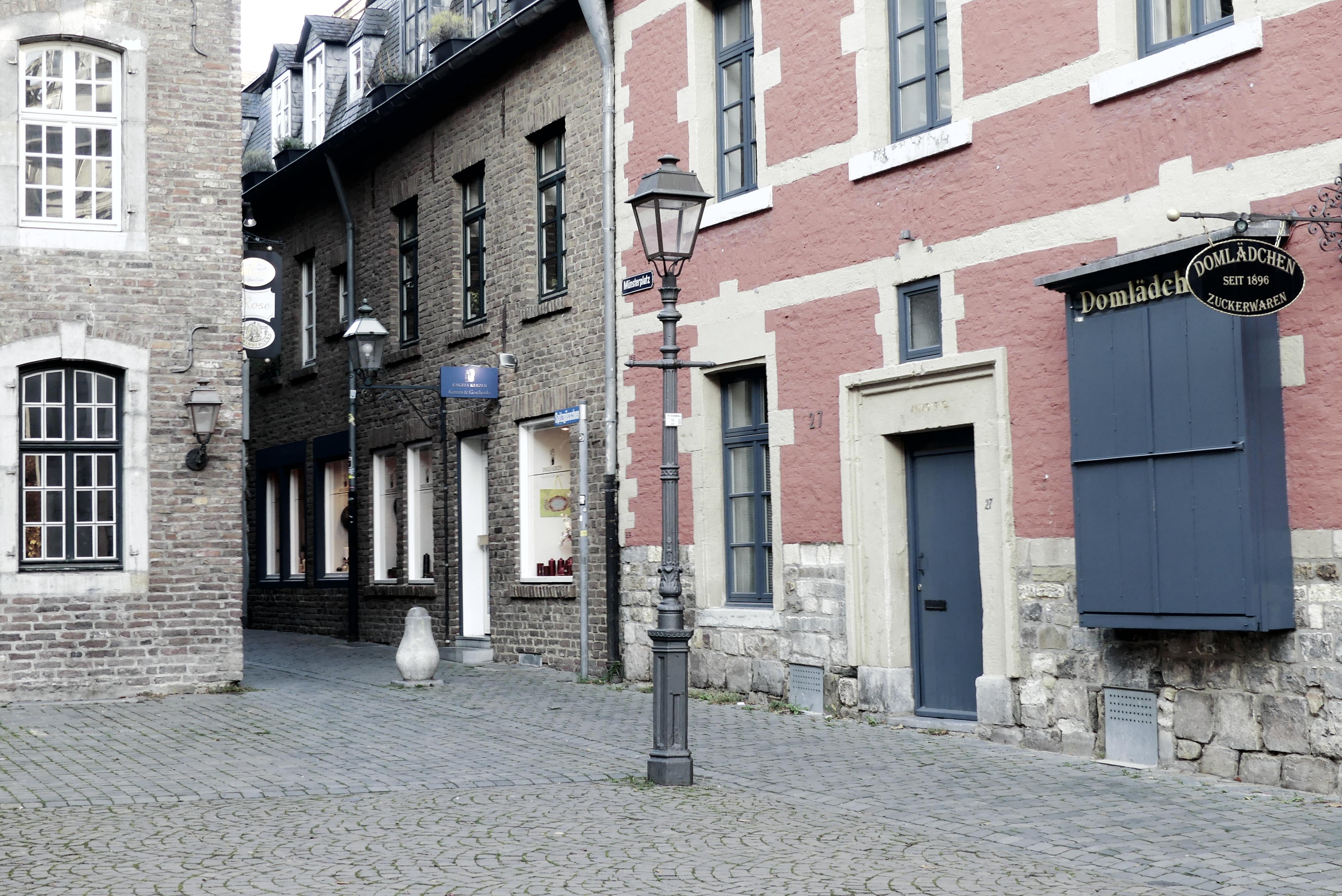 Aachener Altstadt am Münsterplatz
