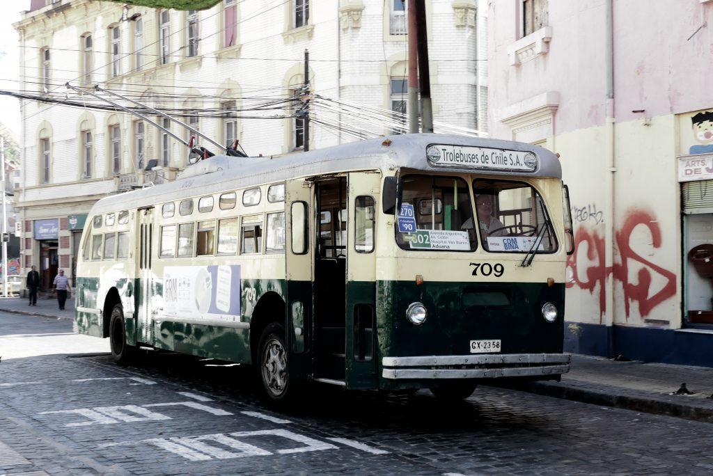 Verkehr in Valparaíso, Chile