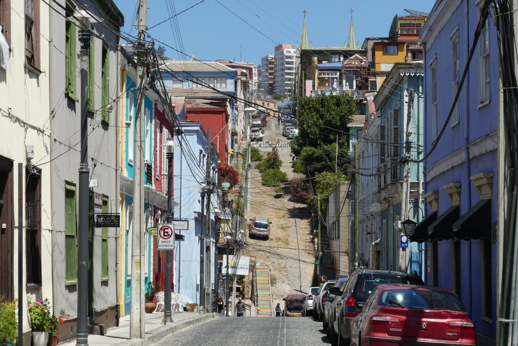 Straße in Valparaíso, Chile