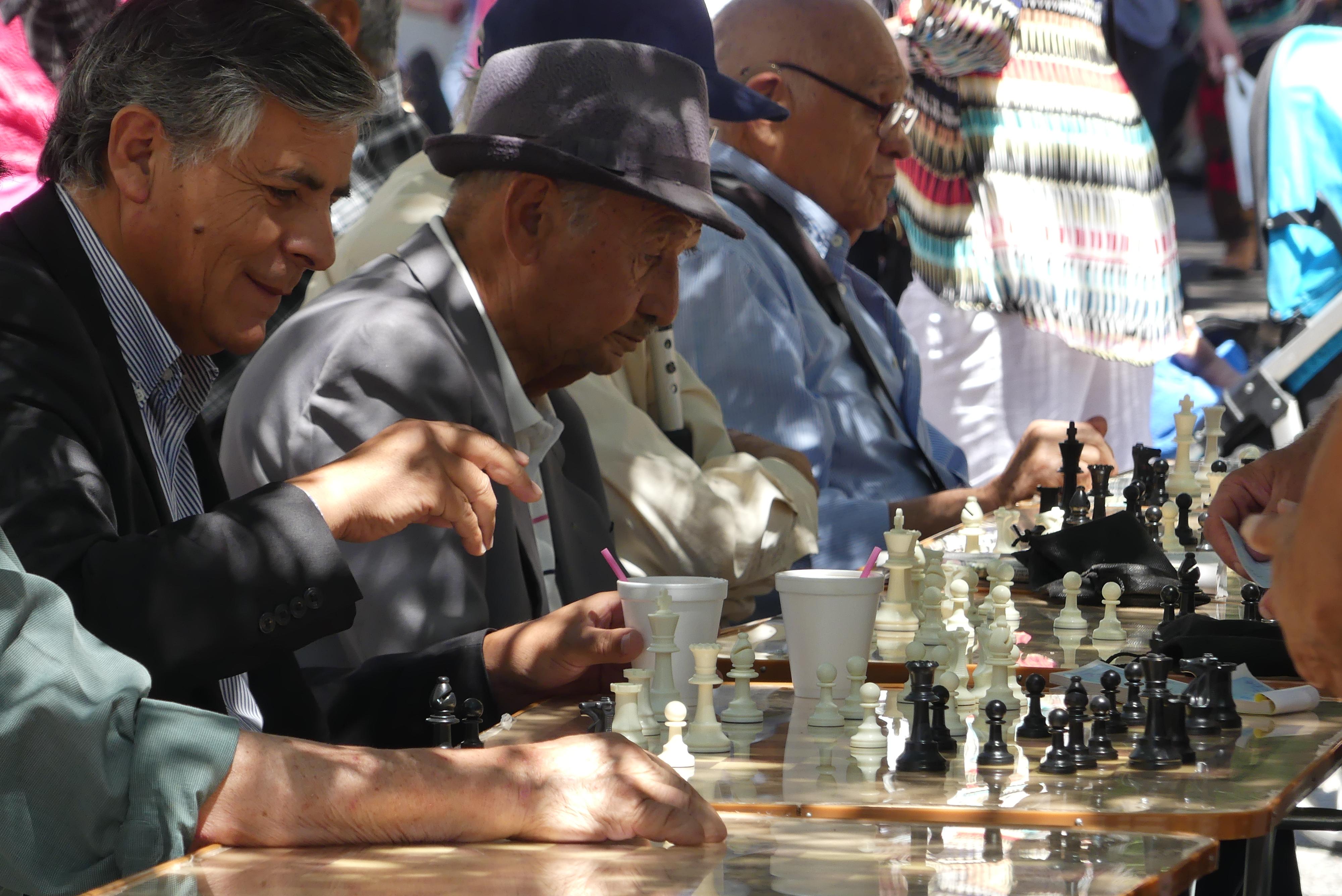 Schachspieler in Santiago de Chile
