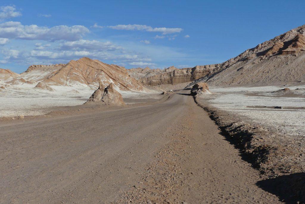 Straße im Valle de la Luna, Chile