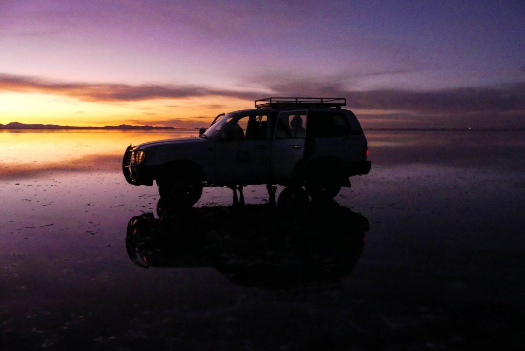 Salar de Uyuni Sonnenaufgang