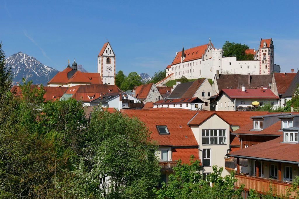 Aussicht vor dem Franziskanerkloster in Füssen