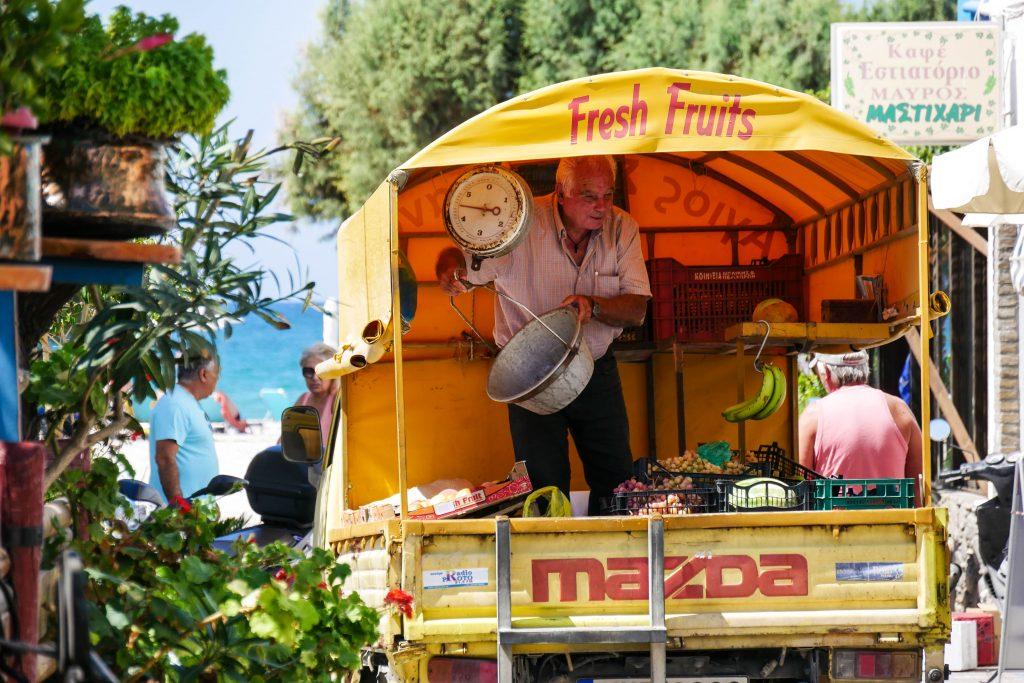 Gemüsehändler auf Kos