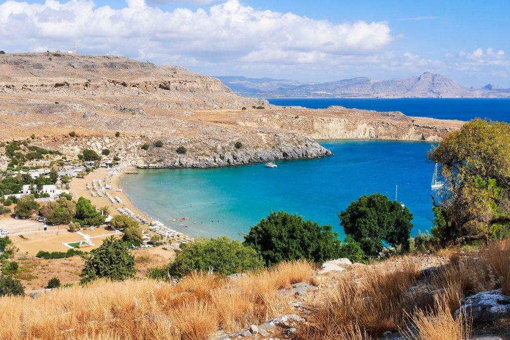 Die Bucht von Lindos