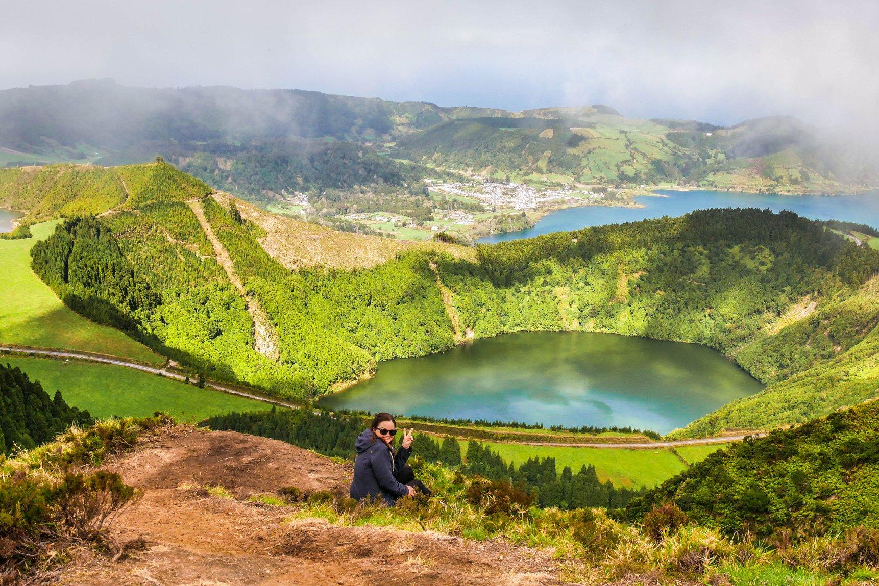 Aussicht über den Lagoa das Sete Cidades
