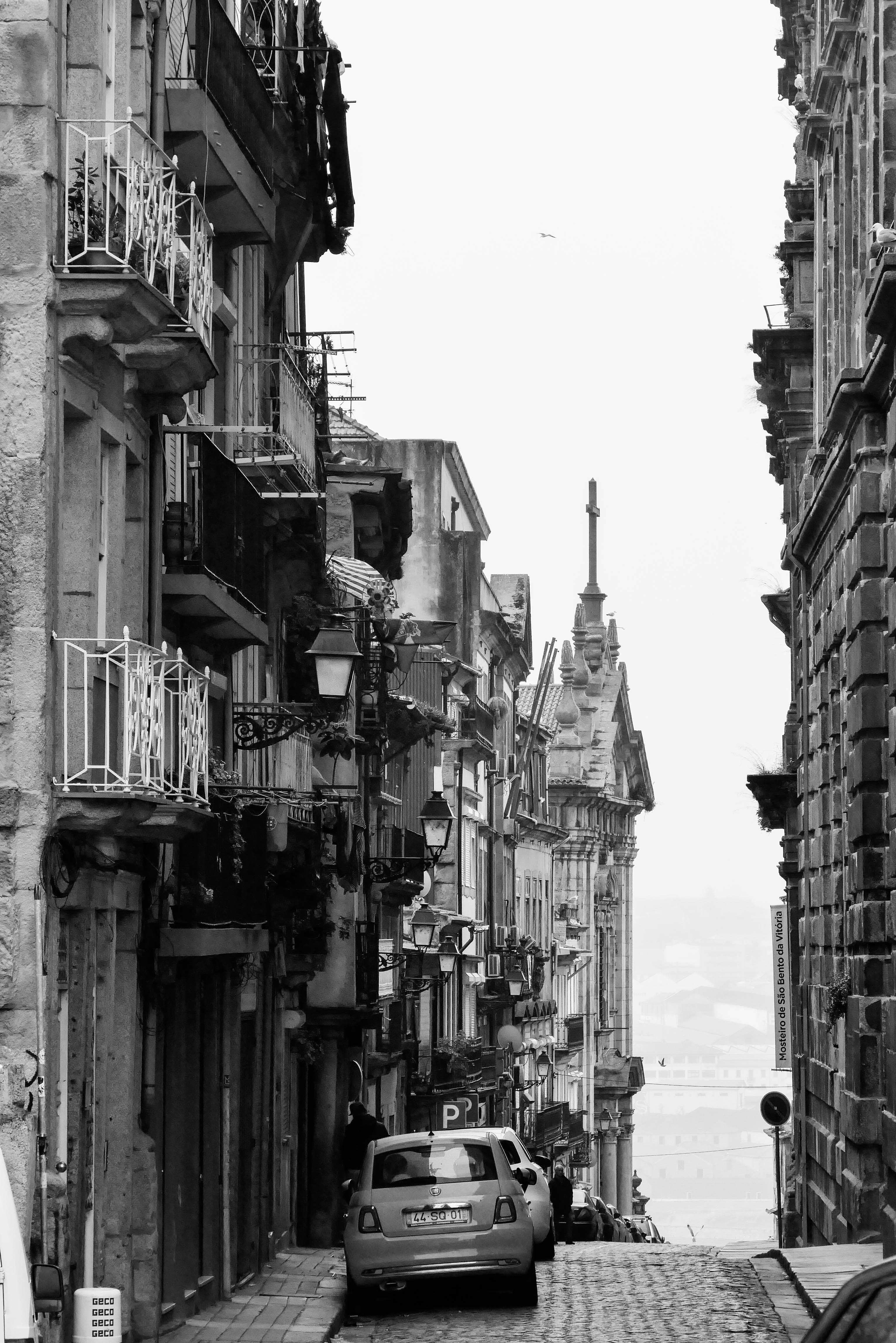 Porto schwarz-weiß