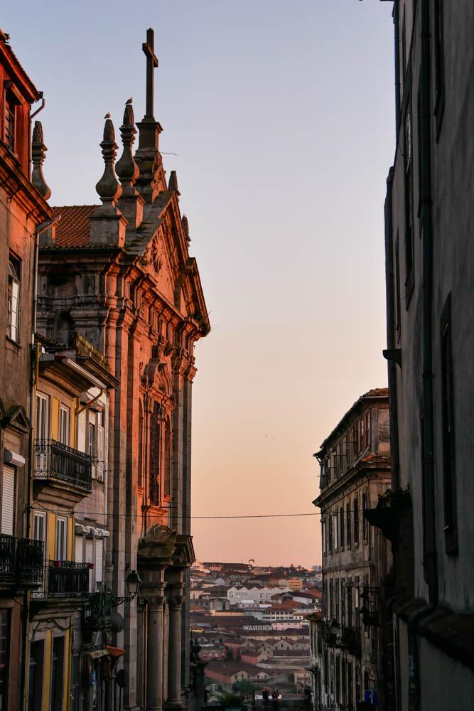 Porto im Sonnenuntergang