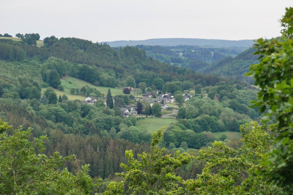 Ausblick über die Eifel Eifelsteig Etappe 3