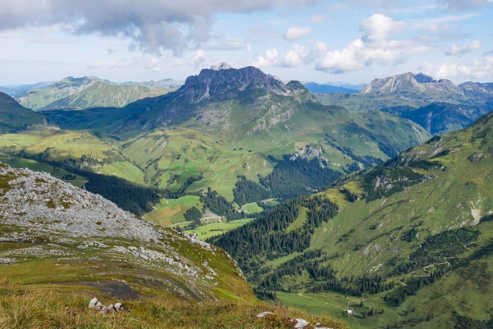 Aussichten am Rüfikopf in Lech am Arlberg